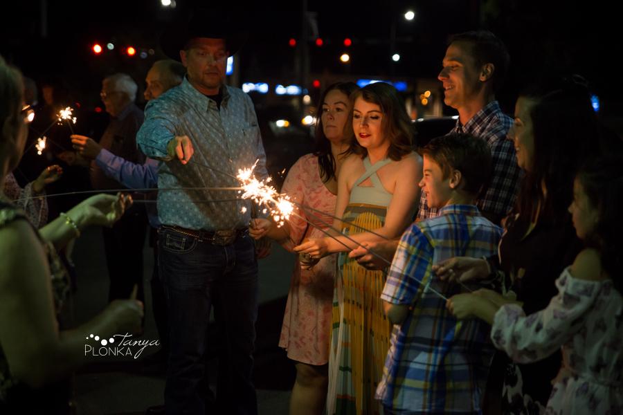 Krysty and Kole, Lethbridge sparkler exit wedding