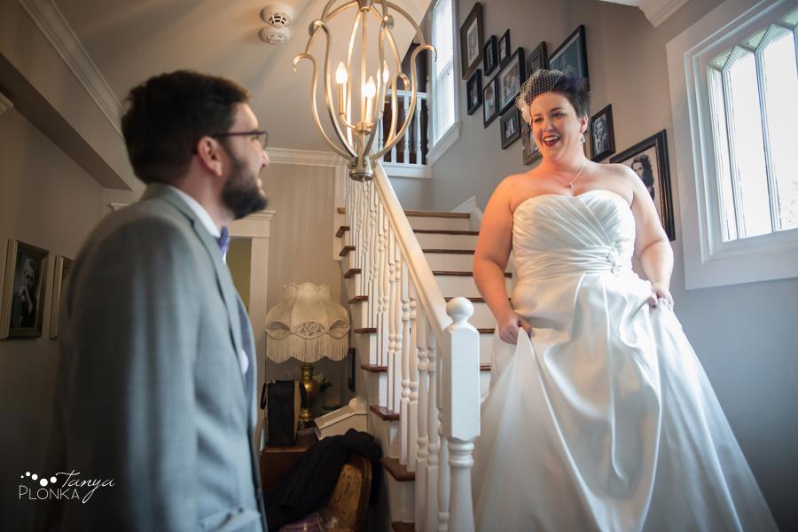 Kelti & Matthew, Lethbridge first look wedding photos
