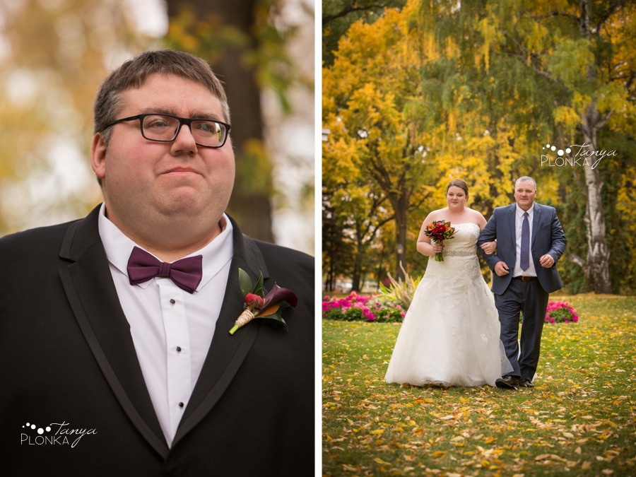 Raiven & Jonathan, Lethbridge Norland autumn outdoor wedding ceremony