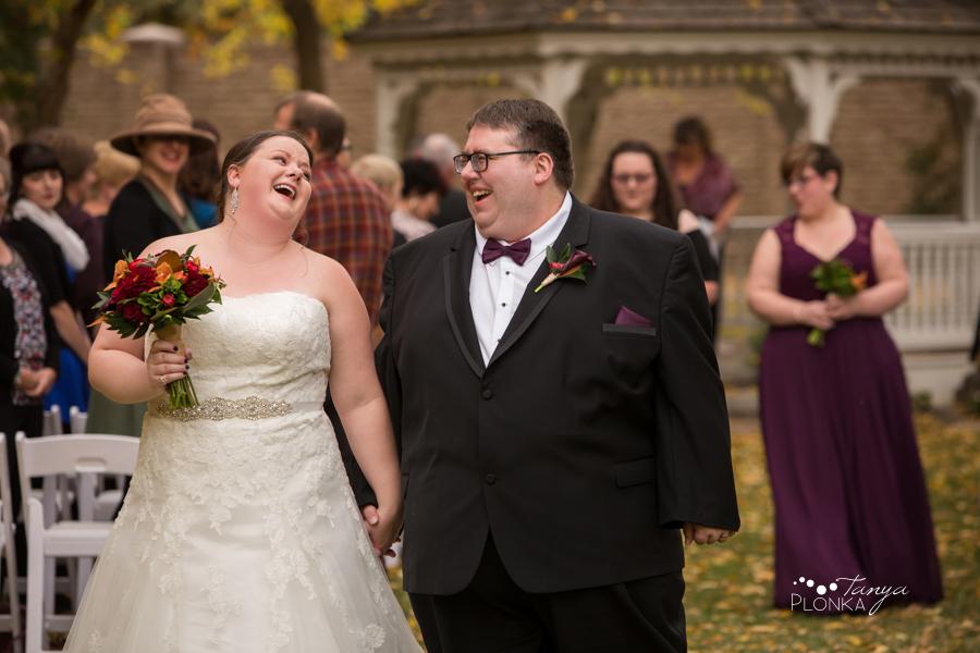 Raiven & Jonathan, Lethbridge Norland Estate autumn outdoor wedding ceremony