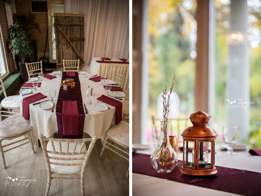 Raiven & Jonathan, Lethbridge Norland Estate autumn wedding reception