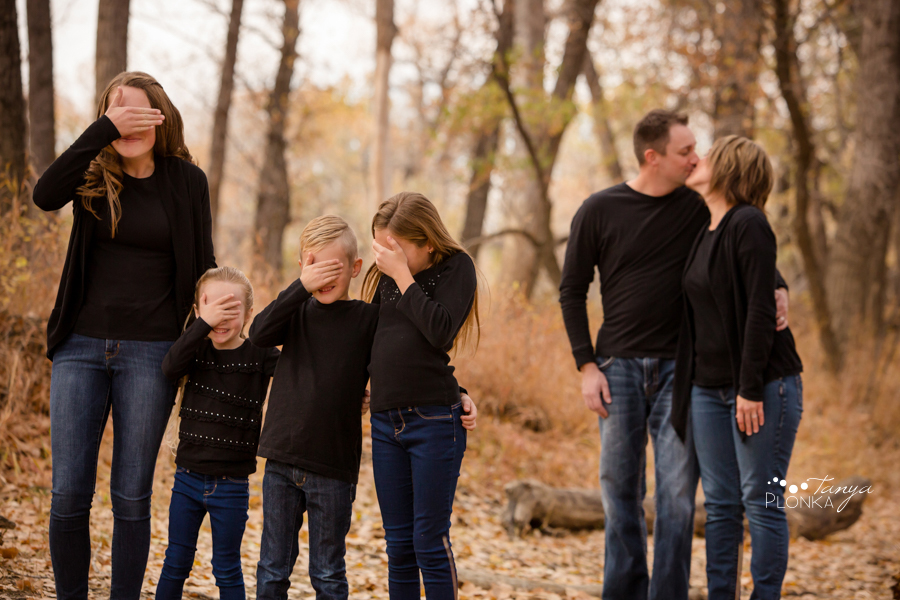 Lethbridge fall family portraits in Indian Battle Park