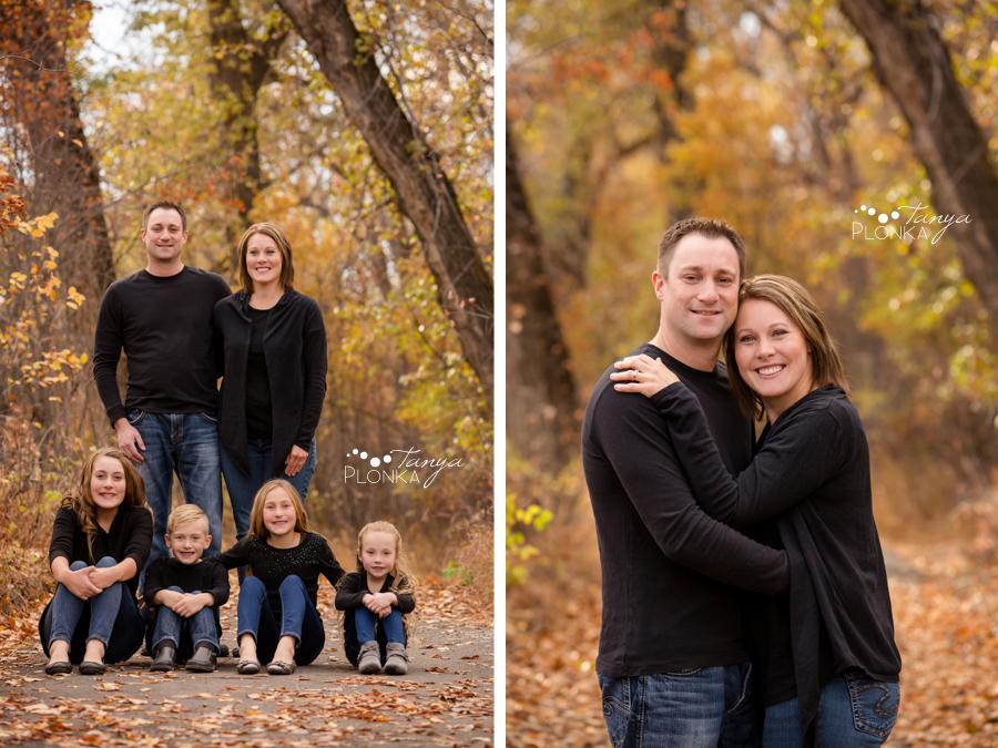 Lethbridge river bottom fall family portraits