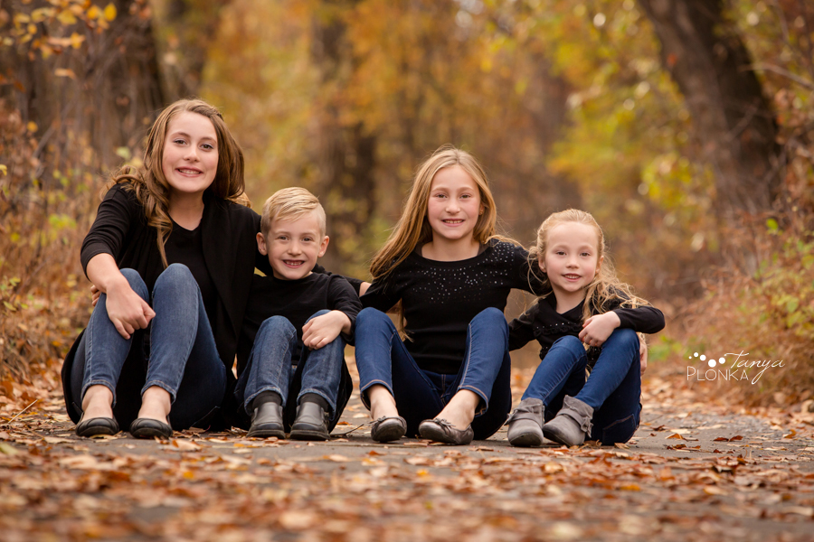 Lethbridge fall family photos in Indian Battle Park