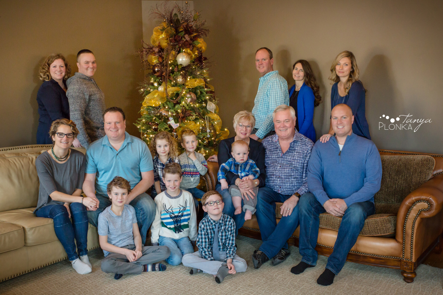 indoor Lethbridge Christmas family photos