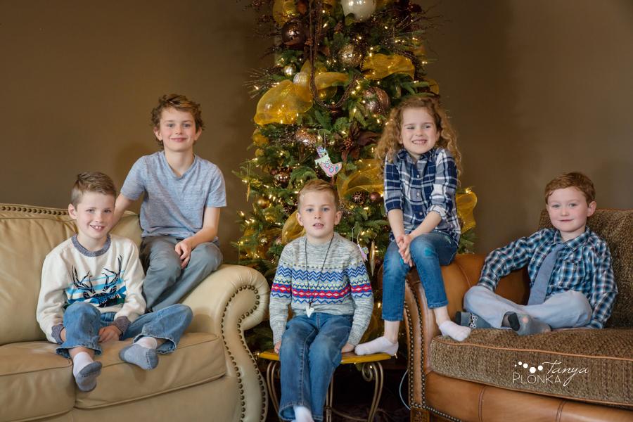 indoor Lethbridge Christmas family photography