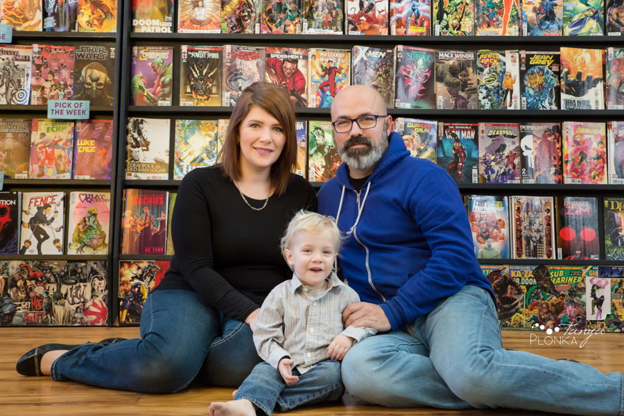 Lethbridge comic book shop family photos