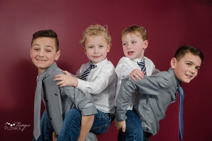 indoor Lethbridge Christmas family photos
