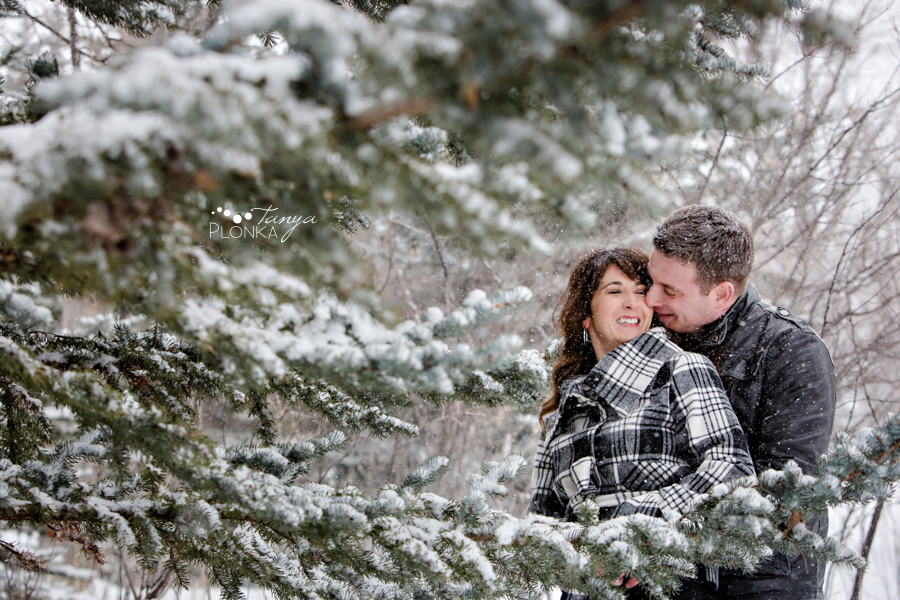 west Lethbridge winter engagement session