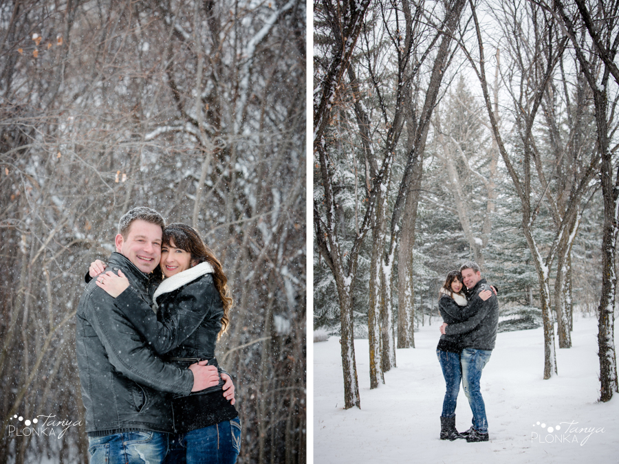 snowy Lethbridge engagement session