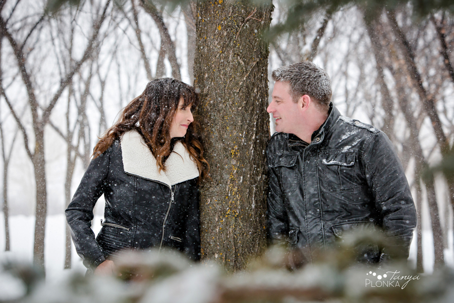 snowy west Lethbridge engagement session