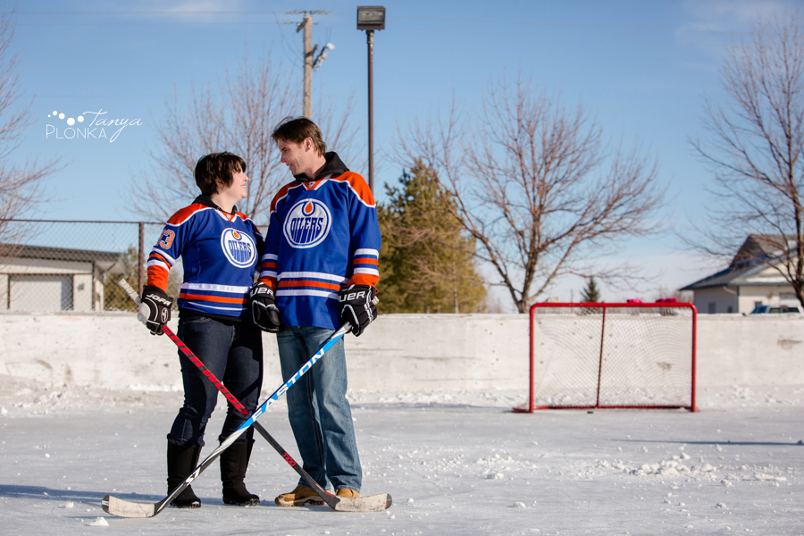 Coalhurst outdoor ice rink hockey photos