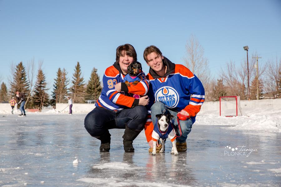 Coalhurst outdoor ice rink hockey photos
