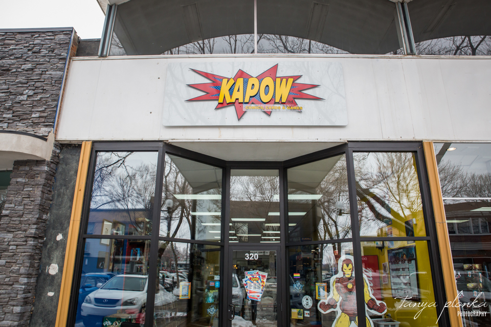 Kapow Comics, Cards & Games business branding photography
