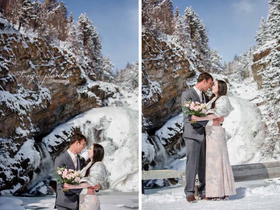 Kayla & Lucas, Snowy Waterton Elopement Photography
