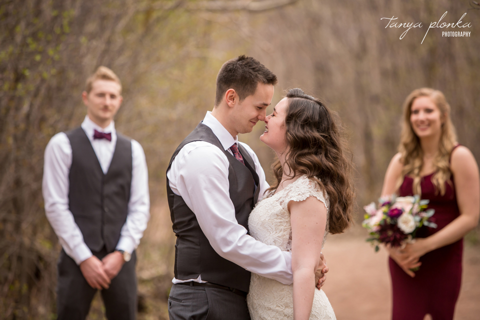 Bailey and Wes, Lethbridge Pavan Park early spring wedding