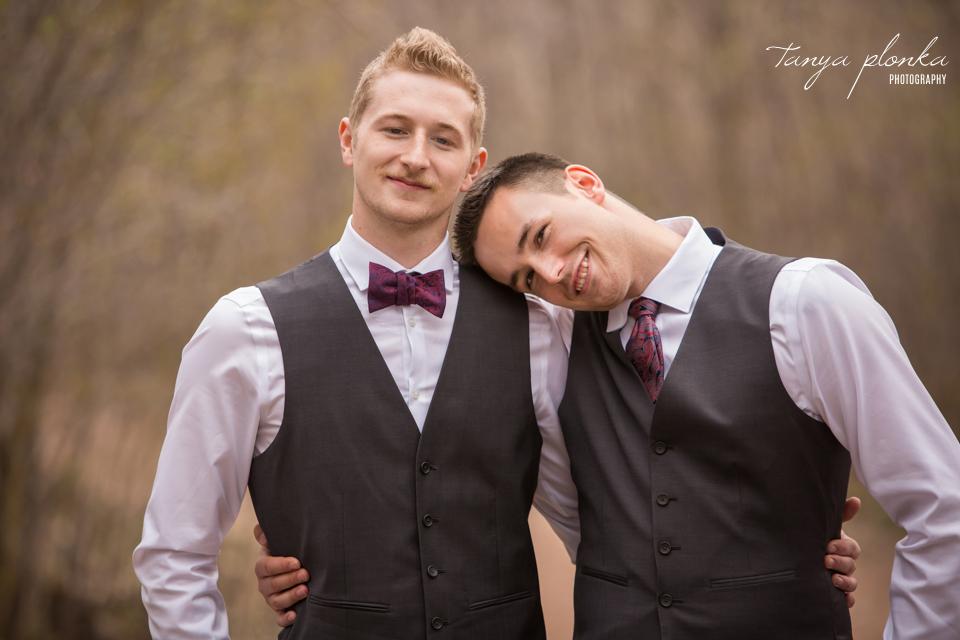 Bailey and Wes, Lethbridge Pavan Park early spring wedding