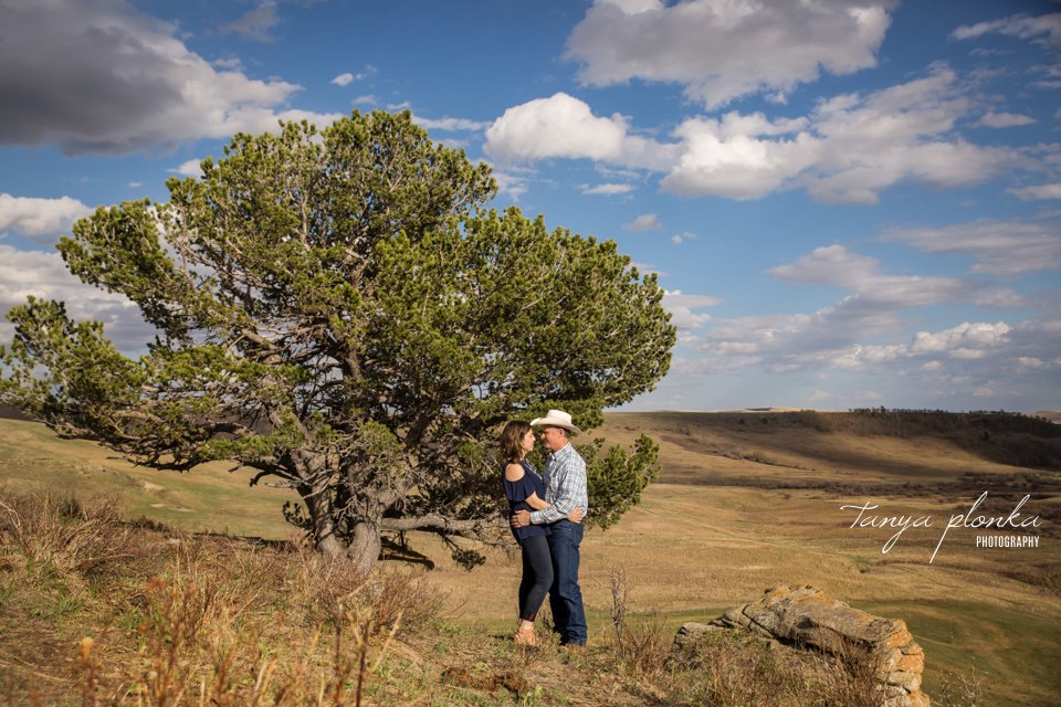 Claresholm ranch engagement photography