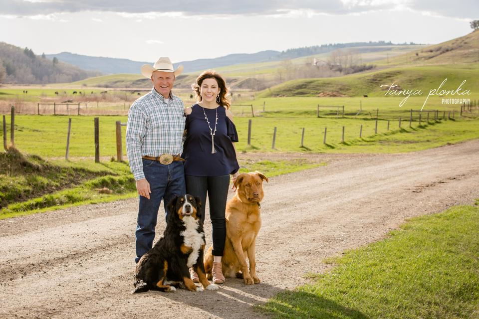 Claresholm ranch engagement photos