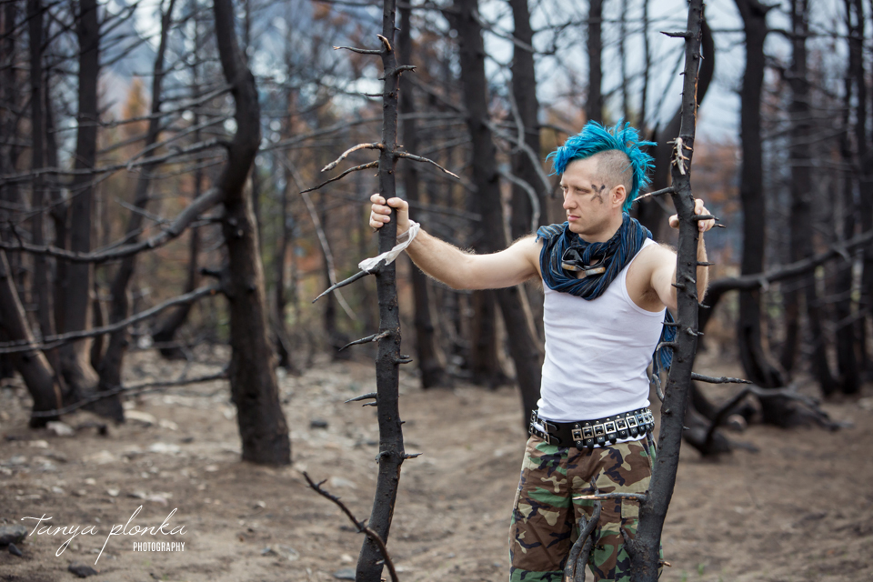 punk man post-apocalypse cosplay