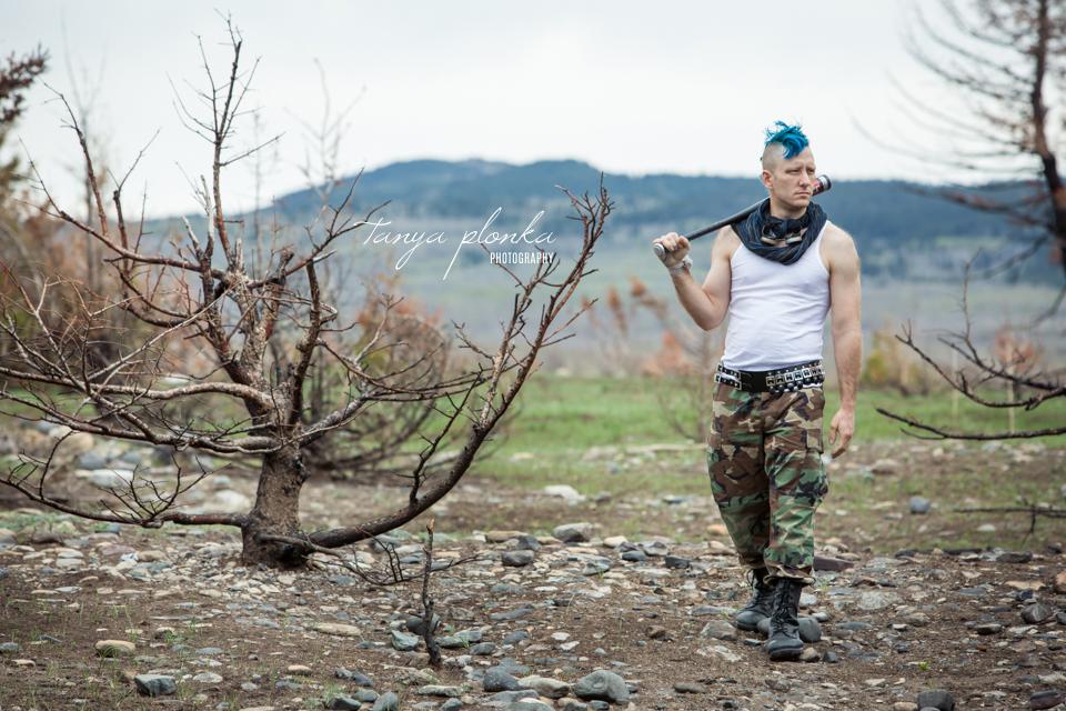 punk man post-apocalypse cosplay
