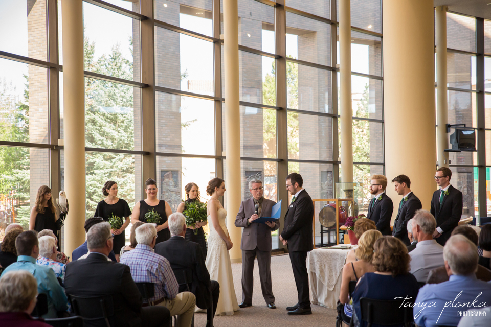 Erin and Taylor, Lethbridge City Hall spring wedding