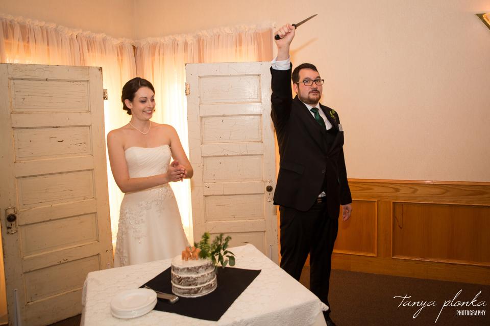 Erin and Taylor, Lethbridge Italian Canadian Club wedding reception></p> <p><img src=