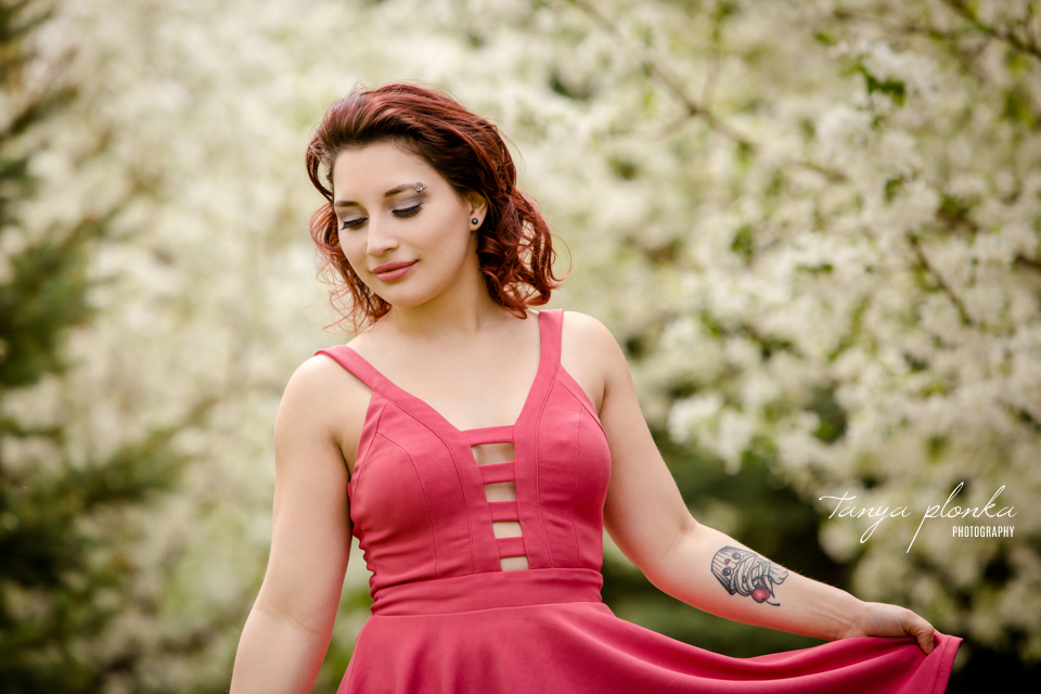 beautiful spring blossom photo session