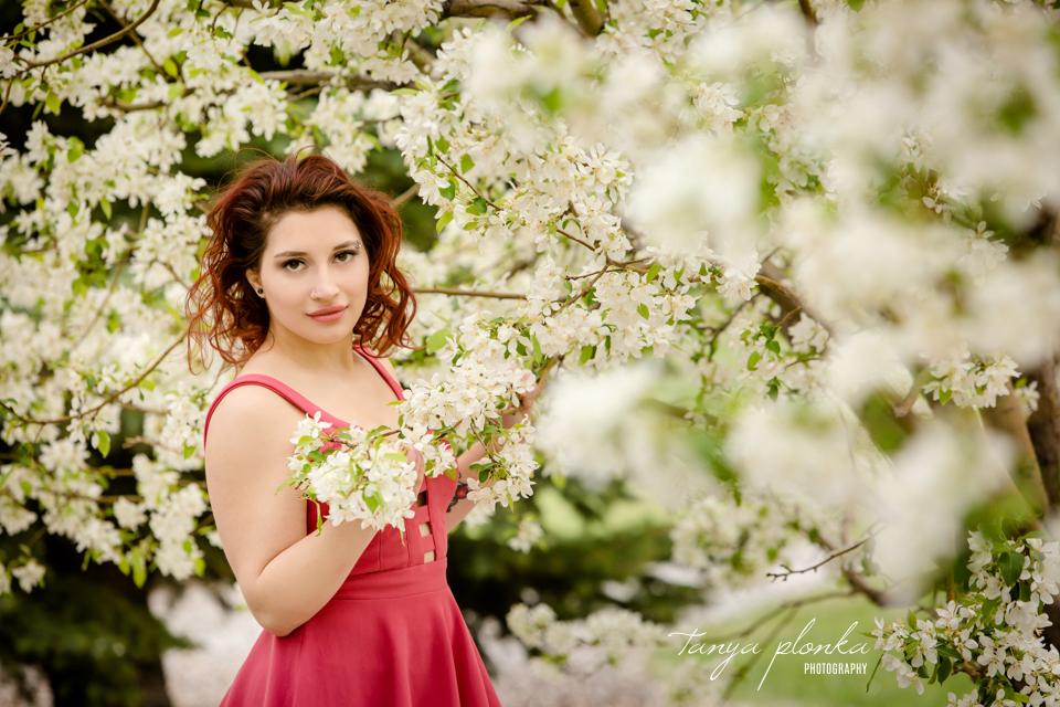 beautiful spring blossom portraits
