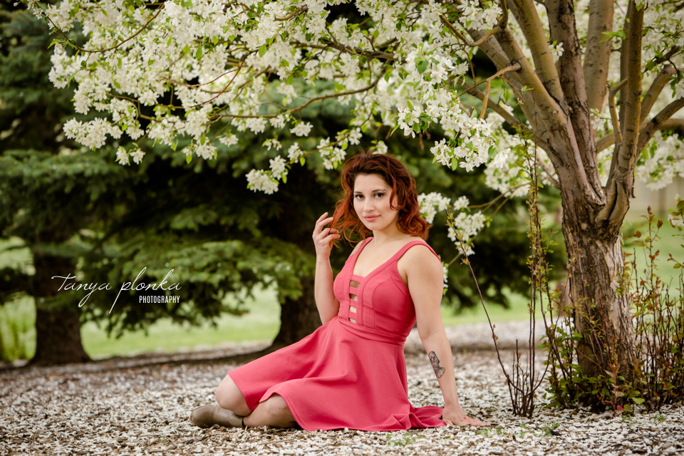 beautiful spring blossom women's portraiture