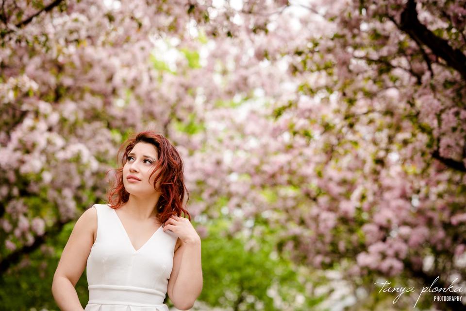 beautiful spring blossom women's portraiture