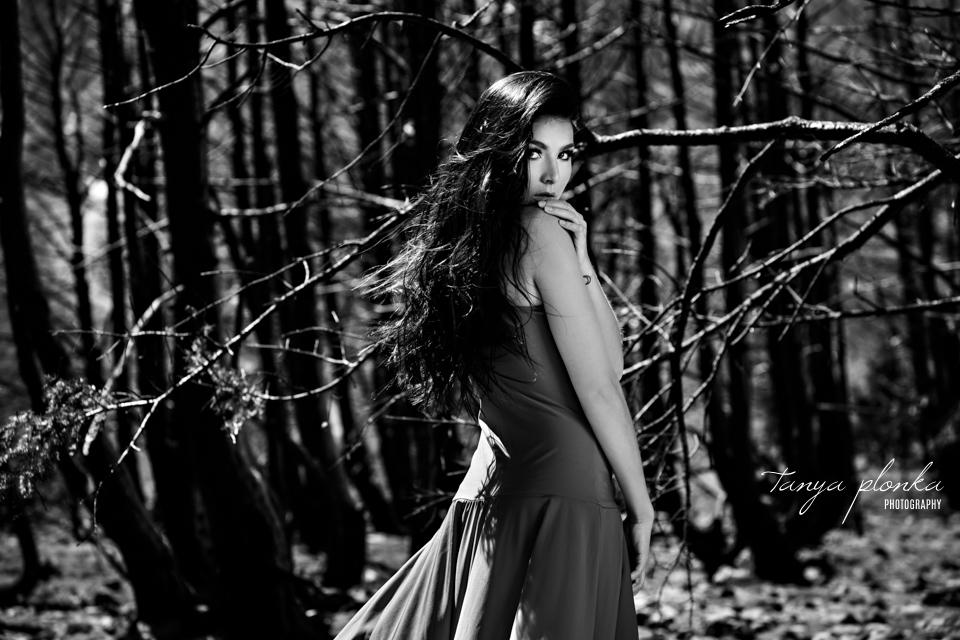 Waterton fire goddess creative photoshoot