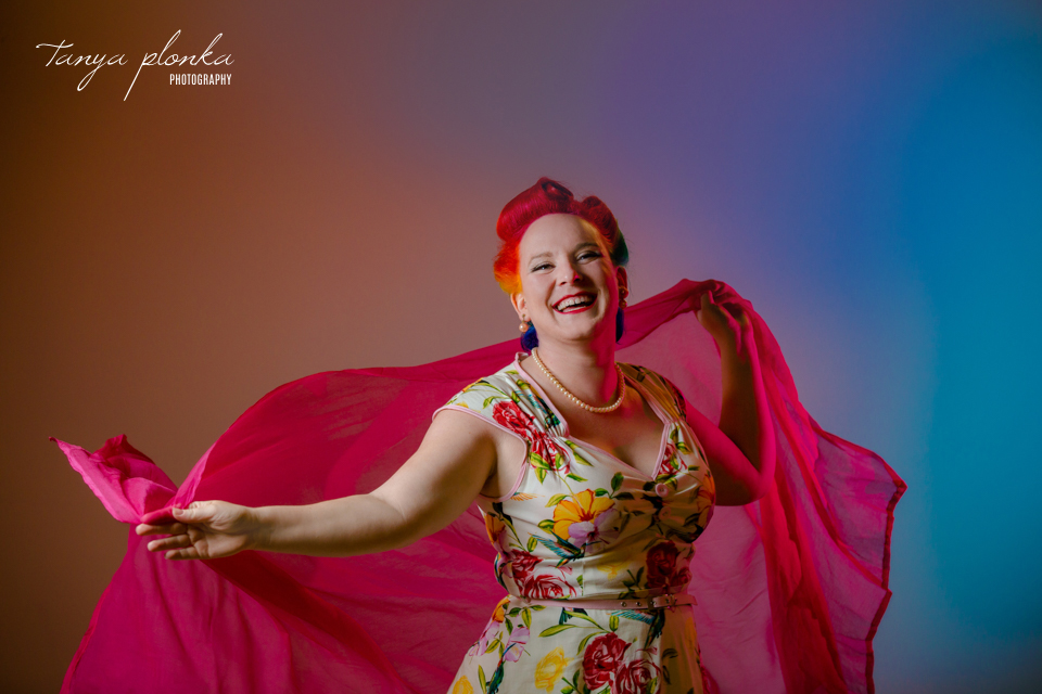 rainbow themed pinup portraits in Lethbridge