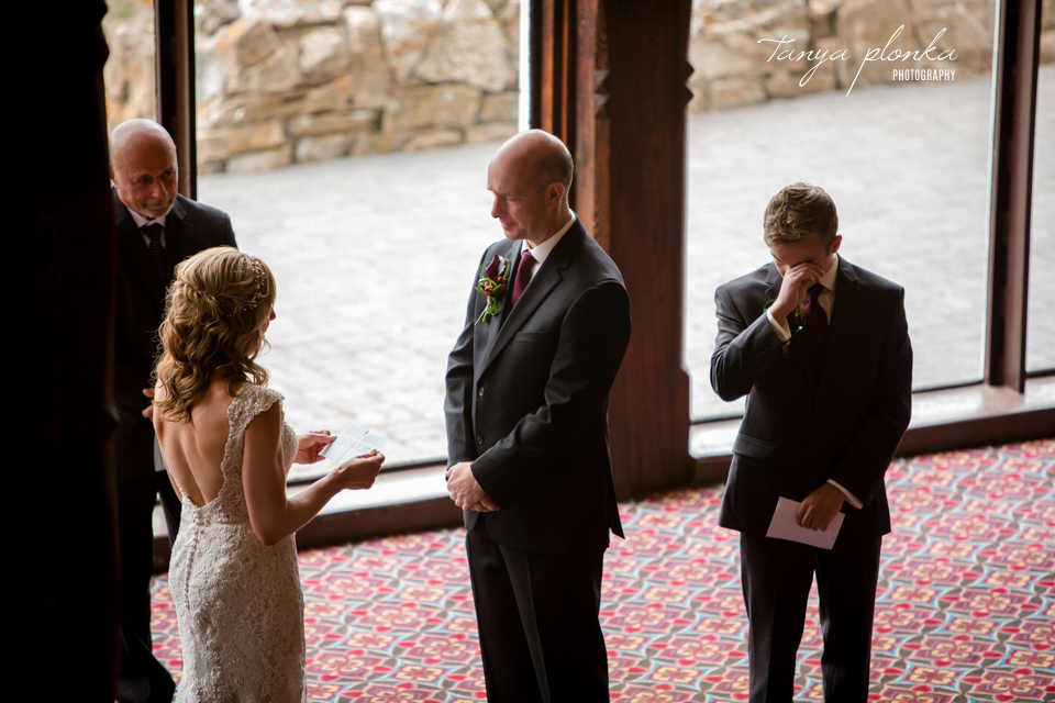 Jennifer and Scott, Prince of Wales indoor wedding ceremony