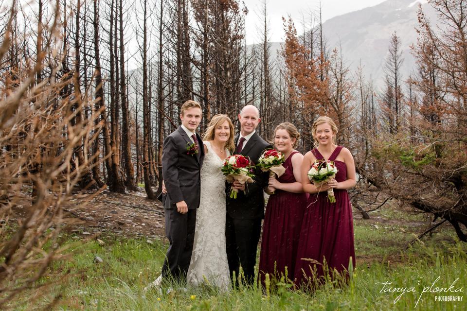 Jennifer and Scott, Waterton wild flower wedding photos