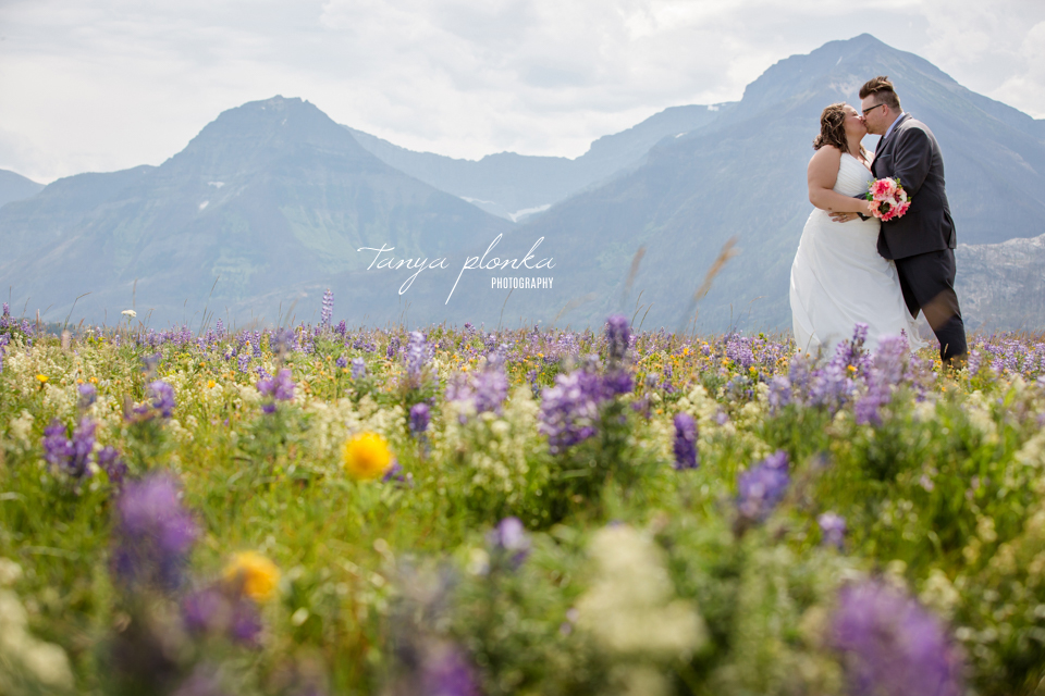 Natalie and Scott, Waterton National Park beachside wedding ceremony