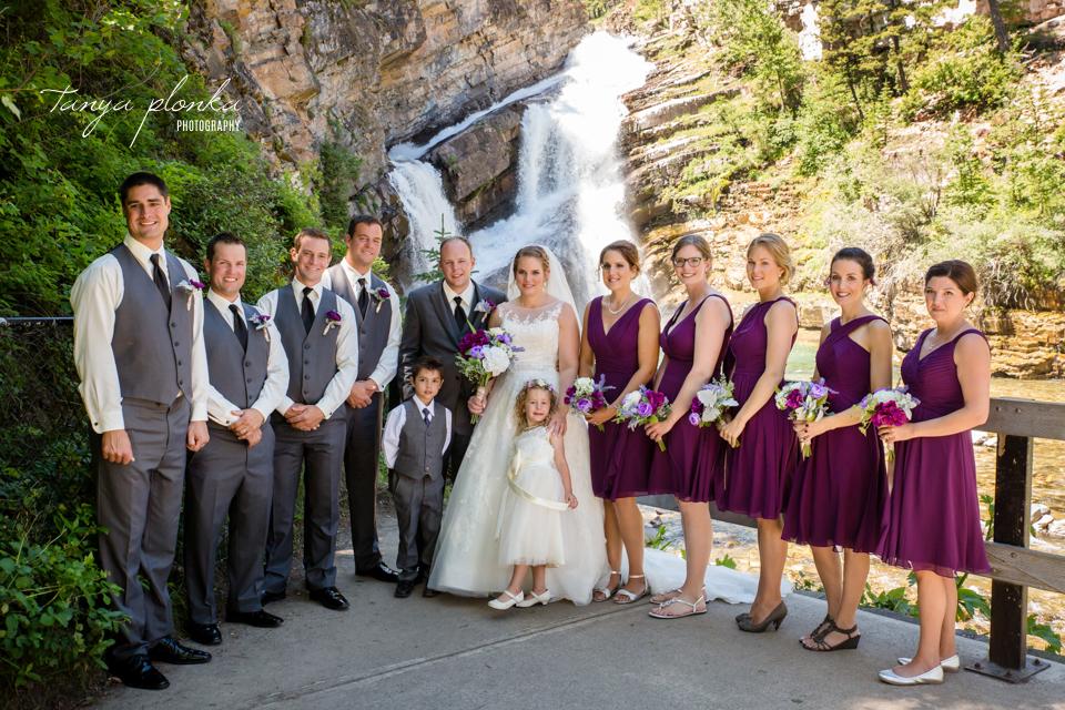Jessica and Jordan, Waterton Community Center outdoor wedding ceremony