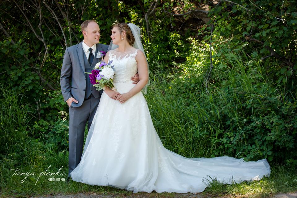 Jessica and Jordan, Waterton Community Hall outdoor wedding ceremony