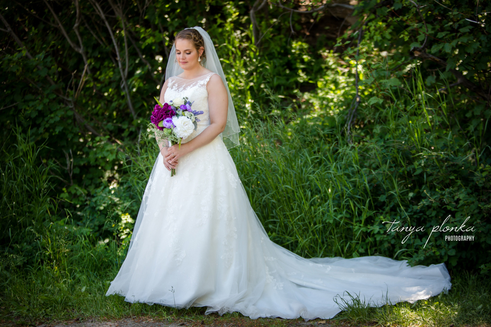 Jessica and Jordan, Waterton Community Center outdoor wedding ceremony