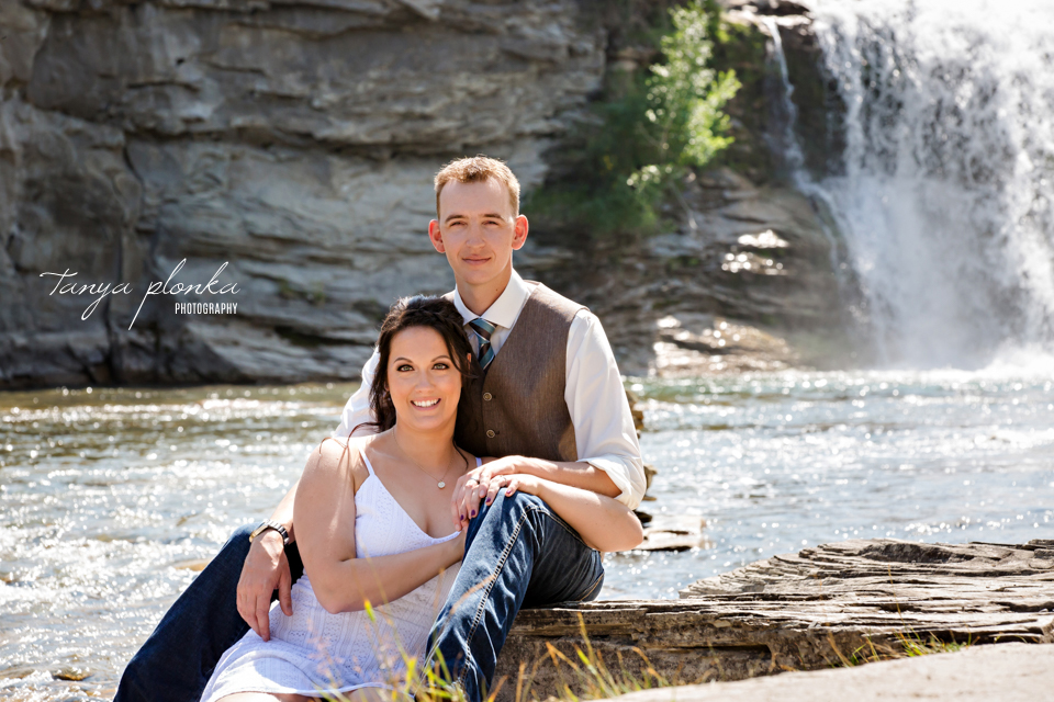 Kelsie & Scott, Lundbreck Falls wedding photos