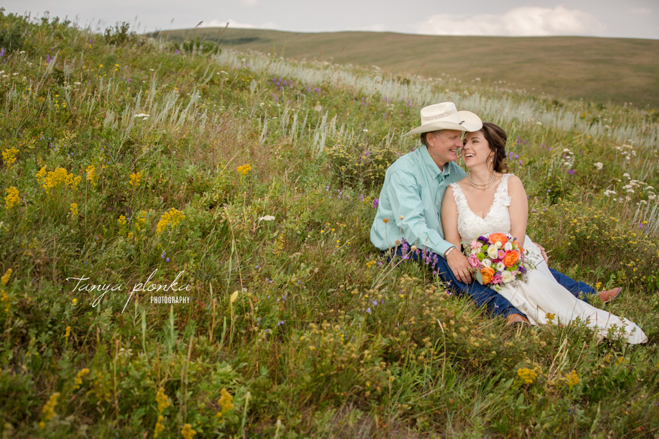 Monica & Dave, Claresholm outdoor ranch wedding