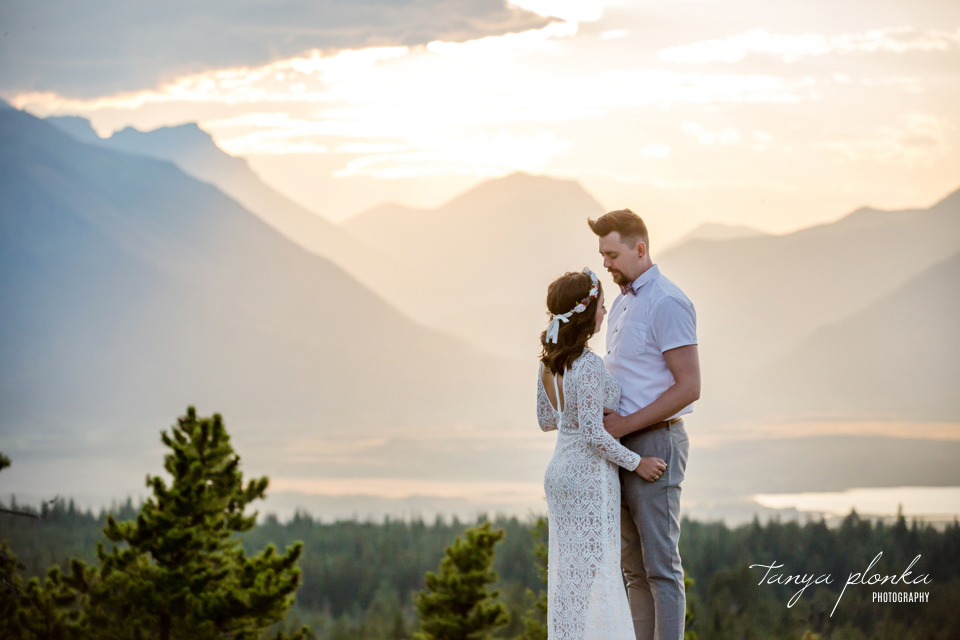Waterton sunset anniversary photos