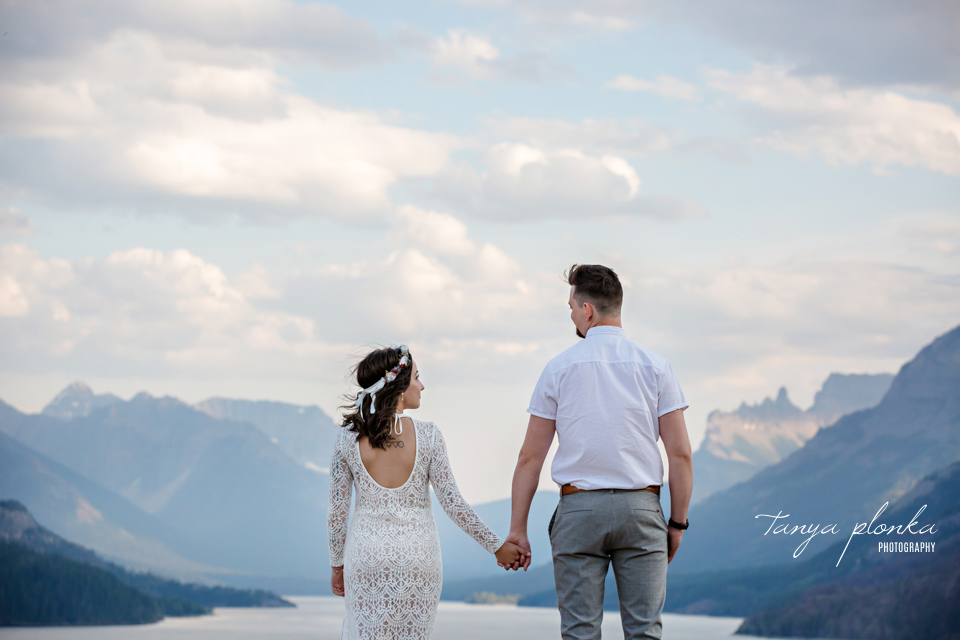 Waterton sunset anniversary couples photos