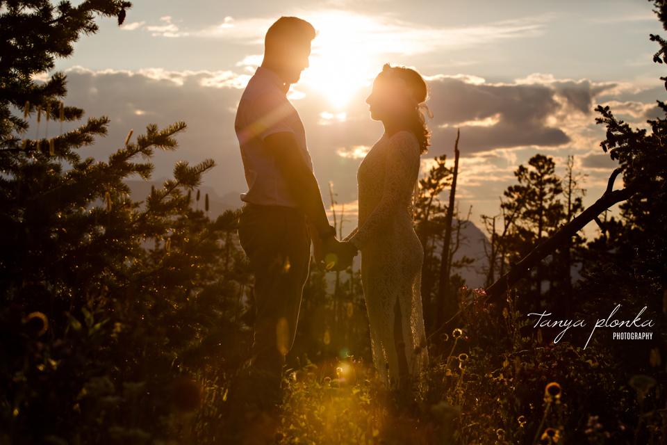 Waterton sunset couples photos
