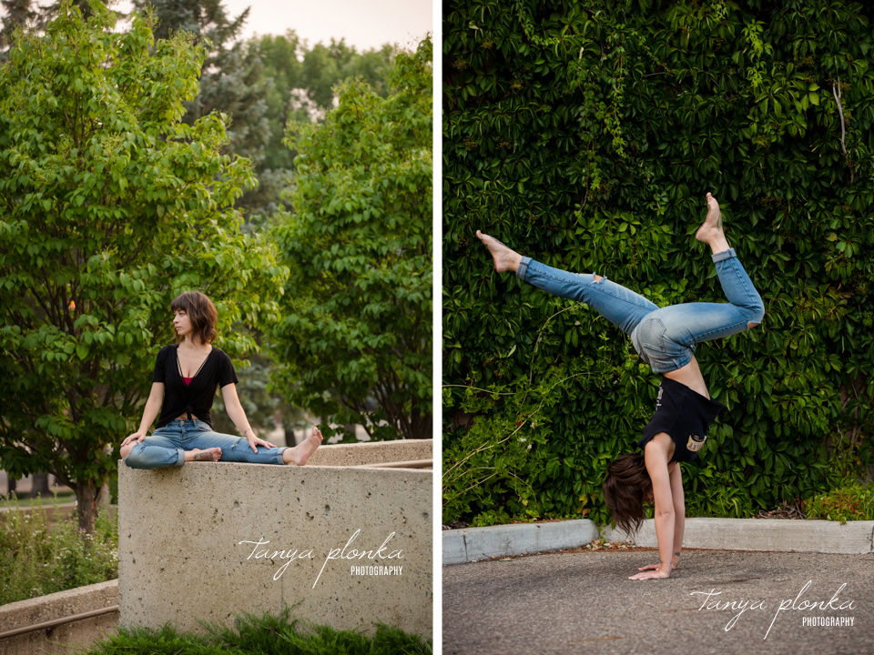 urban Lethbridge yoga portraits
