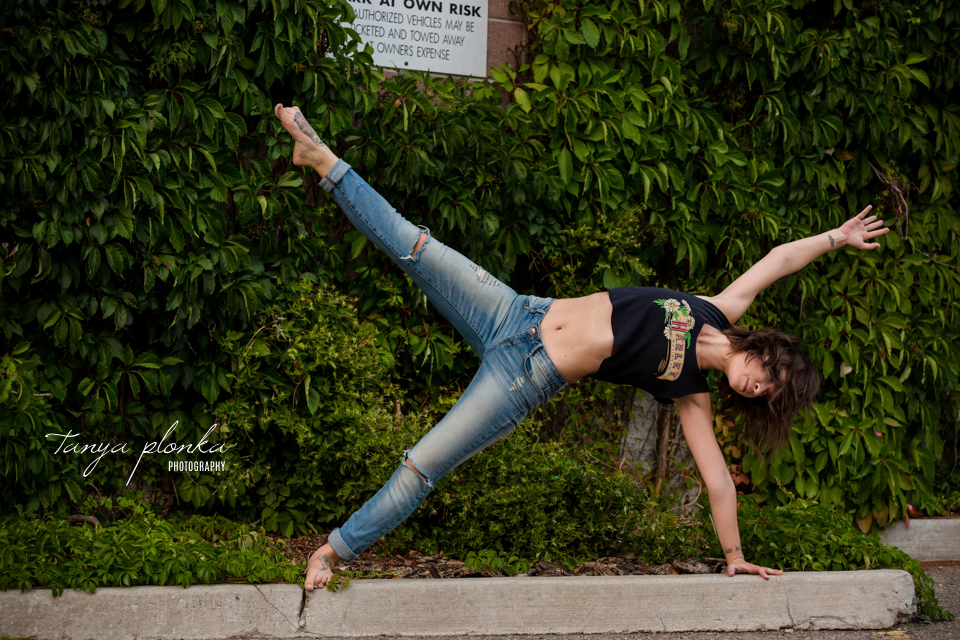 urban Lethbridge yoga photography