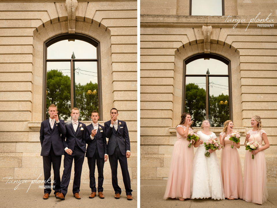 Makayla and Cornell, downtown Lethbridge wedding photos
