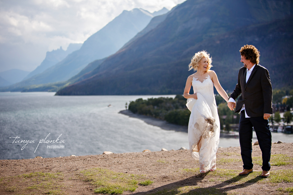 Ella and Mike, Waterton cottage end of season wedding