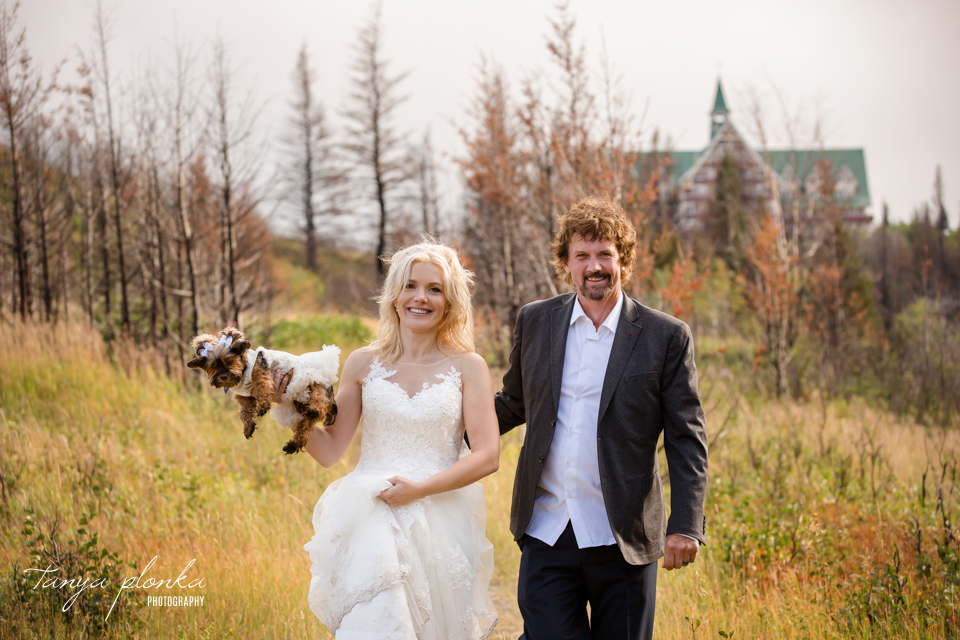 Ella and Mike, Waterton cottage wedding