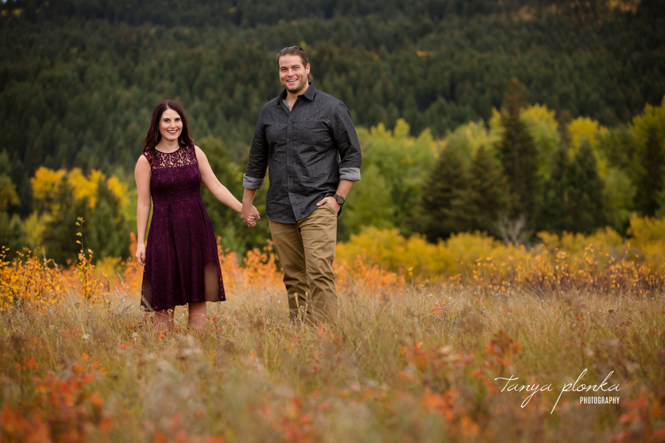 Crowsnest Pass autumn engagement photography
